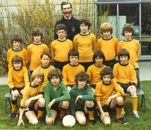 Ivor Golby and Farfield boys