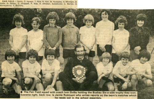 Ivor Golby and Fairfield boys with trophy